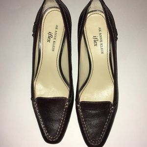 Anne Klein iflex block heel brown size 7